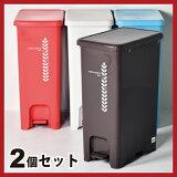 トラッシュポット ペダルゴミ箱 40L 2個セット ゴミ箱 ごみ箱 ダストボックス ふた付きゴミ箱 おしゃれゴミ箱 分別ゴミ箱 屋外ゴミ箱 45L可ゴミ箱 45リットル可ゴミ箱 スリムゴミ箱 キッチンゴミ箱 リビングゴミ箱 かわいいゴミ箱 デザインゴミ箱 オムツゴミ箱 [10P03Dec16]