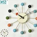 掛け時計 【時計フック付き】 正規ライセンス取得 George Nelson ジョージ・ネルソン ボール・クロック ネルソンクロック 時計 壁掛け時計 おしゃれ ウォールクロック デザイナー リビング モダン インテリア雑貨 復刻版 リプロダクト 贈り物