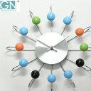 掛け時計 【時計フック付き】 正規ライセンス取得 George Nelson ジョージ・ネルソン アトミック・ボール・クロック ネルソンクロック 時計 壁掛け時計 おしゃれ ウォールクロック デザイナー リビング 大型 モダン インテリア雑貨 復刻版 リプロダクト