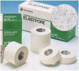適度な透湿性・通気性を持ち、関節部・頭部など屈曲部位にも使える!エラストポア NO.25 1箱(25mm×5m) 12巻入高粘着性・高フィット性を実現した強度固定に適した粘着性布伸縮包帯。