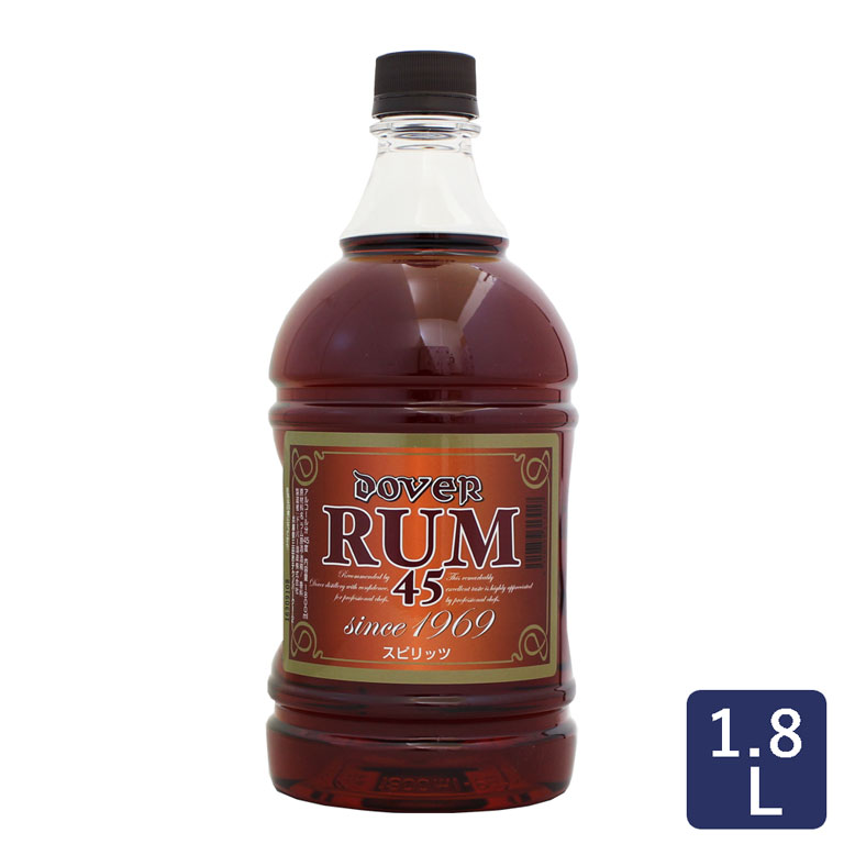 ドーバーラム45°18L Doverフルーツ漬洋酒漬けお菓子用ラム酒