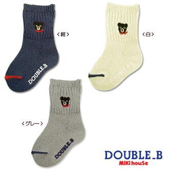 Double B ワンポイントブラックベア socks (9-19 cm)