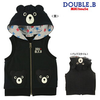 ☆ Double B ★ black bear hooded best (80・90)