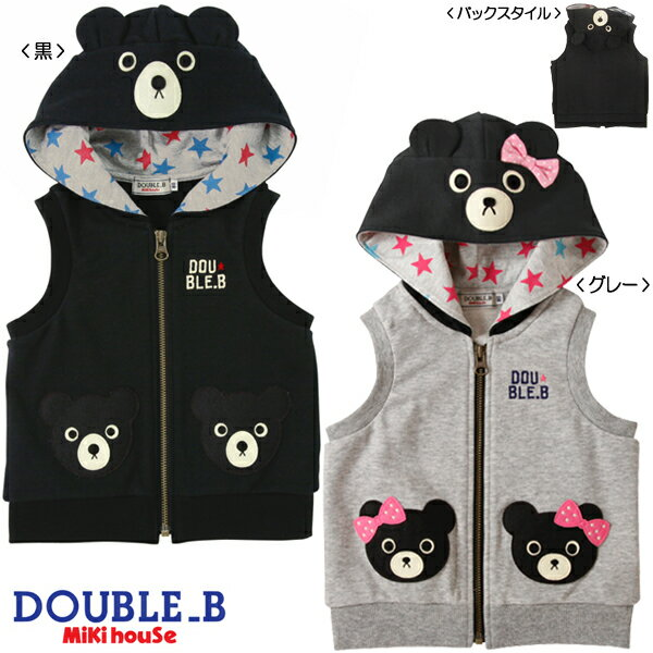 (Domestic) ☆ double B ★ black bear hooded best (80.90) upup7 apap8