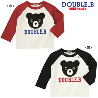 Double B ★ ブラックベアラグラン long sleeve T shirts ★ (120 / 130)