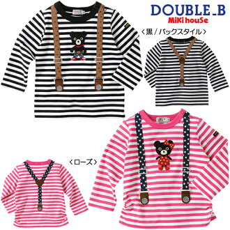 ☆ Double B ★ American suspenders ☆ long sleeve T shirt (80・90)