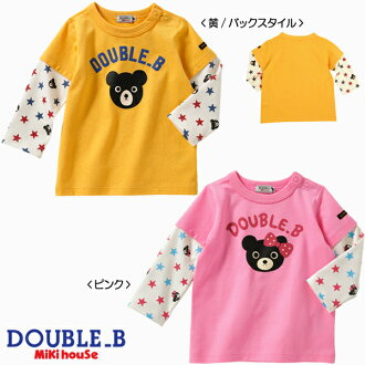 ☆ Double B ★ sleeve pattern ☆ long sleeve T shirt (100.110 )