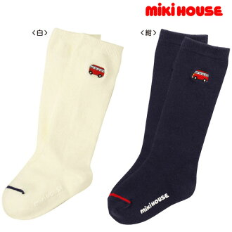 Miki House red bus 11-17 cm knee socks