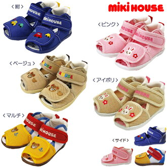 ★ mikihouse ★ one-point double Russell ☆ baby Sandals ( 12-15)
