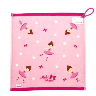 Miki House ★ Leanna Chan ♪ dot pattern hand towel with loop