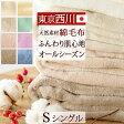綿毛布 シングル 日本製 西川産業 ニューマイヤー綿毛布(毛羽部分)コットンブランケットBE4010