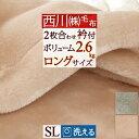 西川 東京西川 リビング 西川産業 毛布 シングル 2枚合わせ毛布シングル 洗える 厚手 ブランケット ポリエステル毛布 冬 合せ毛布 おしゃれ かわいい