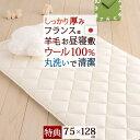 [プレゼント付き]お昼寝布団 敷き布団 75×128 日本製 保育園 ウール100% 暖か仕様 洗えるウール お昼寝敷布団 お昼寝マット