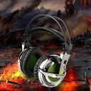 AGPtek ゲーミングヘッドセット 新モデル*全て3.5mmジャックに適用Gaming headphone マイク付け 音量調節可能 (緑, ケープル)