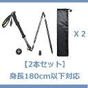 【2本セット】ODOLANDトレッキングステッキ 登山杖/ポ...
