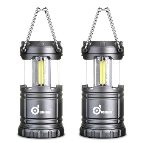 Odoland LEDキャンプランタン 最新のCOB LED採用 120ルーメン 電池式 携帯型 折りたたみ式 防水 キャンプ ハイキング 魚釣り 登山 エクスプローラー アウトドア 室内 停電 防災緊急対策など適用