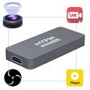 AGPTEK TYPE-Cビデオキャプチャー ビデオキャプチャー USB3.0接続 HD1080p/60fps ゲームライブストリーミングできる 生放送 ゲームの..