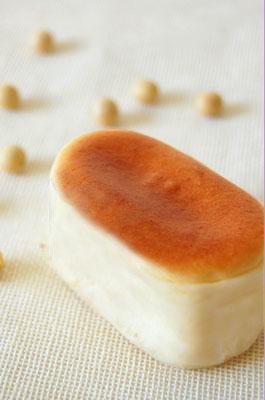 「豆チーズ(チーズスフレ)」国産大豆の豆乳使用