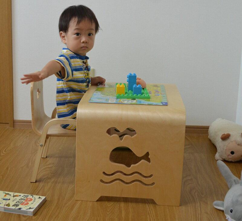 MAMENCHI サイズ大き目な子供用木製テー...の紹介画像3