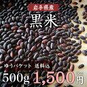 【ゆうパケット 送料無料】岩手県産黒米 500g