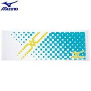 トレーニングウエア アクセサリー ミズノ MIZUNO スポーツタオル(01)ホワイト×ターコイズ 32JY610101