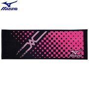 トレーニングウエア アクセサリー ミズノ MIZUNO スポーツタオル(97)ブラック×マゼンタ 32JY610197