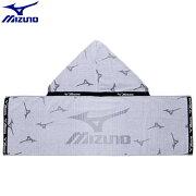 トレーニングウエア アクセサリー ミズノ MIZUNO フード付タオル(09)ブラック 32JY711009
