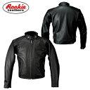 Rookie/ルーキー/RLJ-02N/レザージャケット 02/LEATHER JACKET/バイクウェア<メンズ/M、L、LL、3L、4L/BLACK/レザー...