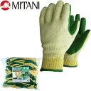 ラバー軍手(ゴム張り) ミタニ お買得パームグリーン 10双入り 作業手袋