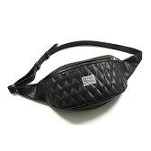 EASYRIDERS/イージーライダース/Diagonal Waist Bag 【ウエストバッグ】 <ブレッジ/レザー/黒/ブラック/イージーライダーズ/バイク用バッグ/ツーリングバッグ/ライディングバッグ/