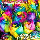 本数を選べるレインボーローズ花束 誕生日やお祝い、記念日に年齢分の本数でプレゼント 薔薇/ばら/バラ花束/フラワーギフト/プレゼント/花