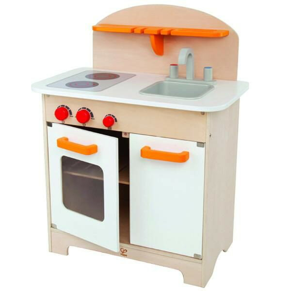 オールインワンな木製おままごとキッチンです。送料無料!!ドイツ Hape グルメキッチン Gourmet Kitchen
