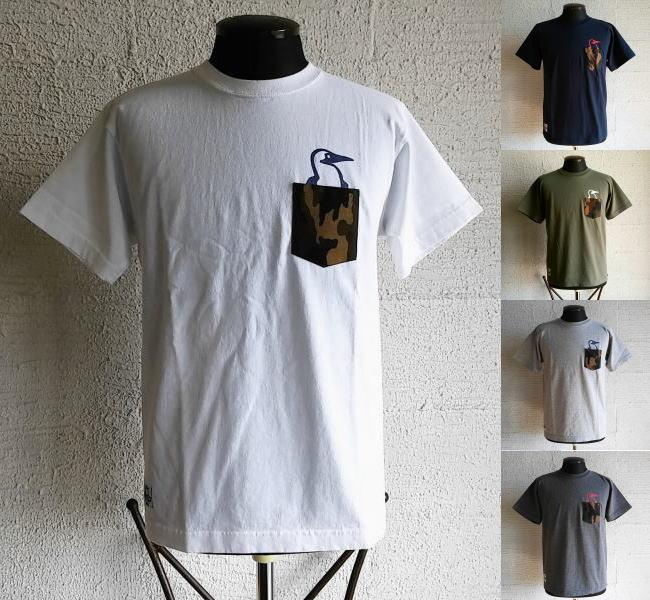 チャムス カモポケットTシャツ