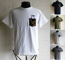 CHUMS [チャムス] CAMO POCKET T-SHIRT [White,Navy,Army Green,Heather Gray,Heather Cha...