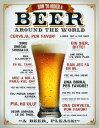 ビール☆How to Order a Beer☆ブリキ看板