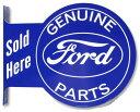 其它 - フォード(Ford) 横付け丸型 サインプレート【ブリキ ティンサイン ブリキ看板】