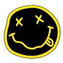 【再入荷】【NIRVANA】スマイル ステッカー『ニルヴァーナ』 カーステッカー 約12cm【自動車 デカール ニルバーナ】