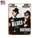 【ブリキ看板】ブルースブラザーズ 1980 ビンテージ調 30.5cm×23cm【The Blues Brothers インテリア 雑貨 壁掛け ガレージ 車 映画 ブラック ホワイト】