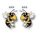 ステッカー スキードゥー ファイティング ビー DOO ME 約13cm×約10.5cm 右向き 左向き ■ ski-doo スノーモービル シール デカール 蜂 ハチ bee