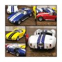 SHELBY - 【ミニカー】【シェルビー】【コブラ】ダイキャスト Shelby Cobra 427 プルバック式 ミニカー 1965 1/32 レッド イエロー ブルー ホワイト