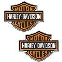 【インテリア 雑貨】ハーレーダビットソン バー シールドロゴ エンブレムデカール【Harley-Davidson】【自動車 カー用品】【ステッカー】