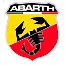 【デカール】アバルト(ABARTH) エンブレム ウィンドウステッカー(カーステッカー)【シール・カー用品】