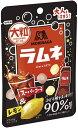 【猫】【送料無料】森永製菓 大粒ラムネ スーパーコーラ&レモン 38g×10袋