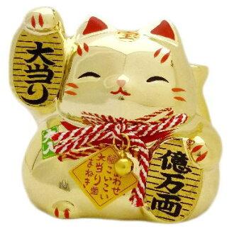 Dazzling gold! Wow gold Maneki Neko