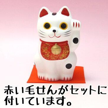 招き猫 置物 まねきねこ 開店祝い 招き猫で日本を元気に 開運 手のり招き猫(大)【あす楽対応】【開運アイテム 販 嵐 恋愛運 風水 玄関 風水 グッズ】【RCP】玄関
