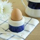アウトレット【ナチュラルコバルトライン たまご立て】エッグスタンド,日本製,カフェ食器,卵立て,陶磁器,陶器,半熟卵