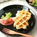 【SHIRO_KURO_白黒【プレート L_黒】 カフェ食器,シンプル食器,シリーズ食器,業務用食器