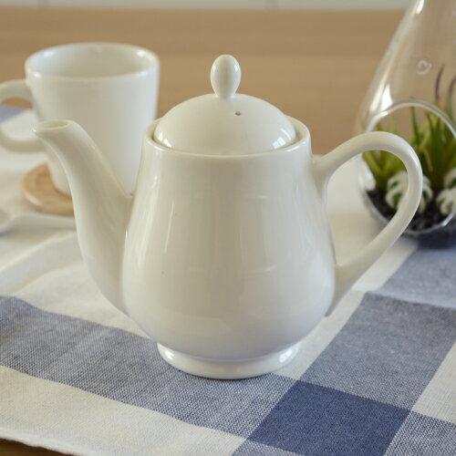 ペアティーポット410ccアウトレット品ポット陶器業務用食器白い食器陶磁器紅茶ポット
