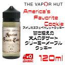 Vapor Hut ( ベイパーハット ) America 039 s Favorite Cookie (アメリカズフェイバリットクッキー)大容量120ml AFC 甘すぎないウーキークッキー ( Wookey Cookie )大人バージョン!海外 USA アメリカ産 電子タバコ ベイプ ヴェイプ VAPE リキッド 送料無料