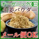 【メール便OK】オーガニックジンジャーパウダー120g(60g×2袋)生姜を皮ごと粉末に!